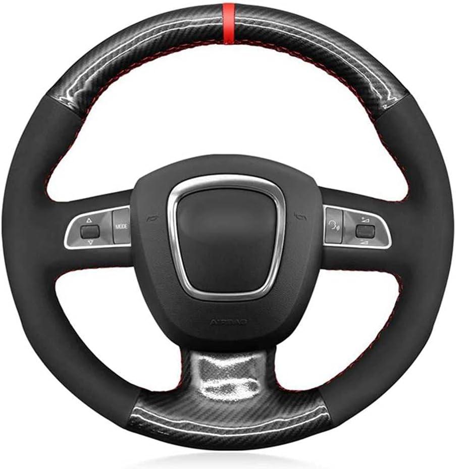 SAXTZDS Hand-Stitched Carbon Fiber Car Cover Wheel Steering Fit Regular dealer New sales