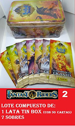 FANTASY RIDERS 2 PANINI Lote de 1 Tin Box mas 7 Sobres