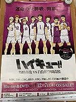 Blu-ray/DVD ハイキュー!! 烏野高校 VS 白鳥沢学園高校 アニメイト 第2巻先着購入特典 販促B2ポスター(白鳥沢Ver.)