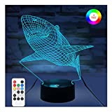 3D Night Lights for Kids, WOHOME iLLusion Lamp with Remote Control and Timer&Smart Touch 7 Colors Changing Table Desk Bedroom Deco Optical Illusion Lamps As a Gift Ideas for Boys or Girls