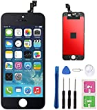 Screen Replacement for iPhone 5s-SE Black LCD Display Touch Screen Digitizer Replacement Full Assembly with Repair Tool Kit(iPhone 5s, Black)