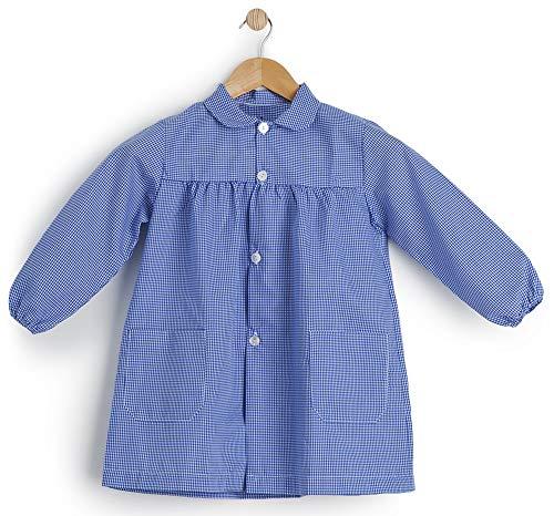BeBright Babi Escolar Infantil, Bata Escolar Niña y Niño Básico, Mandilón de Guardería- Fabricado en España (Azul Celeste, 45/1-2 Años)