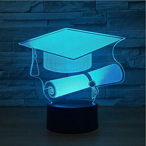 ilusión 3D LED Luces nocturnas Gorra de doctor para...