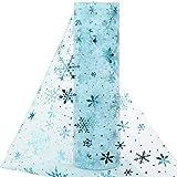 BHGT 25cm 18M Tüll Rolle Tischläufer mit Schneeflocken