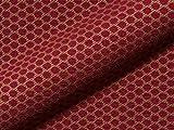 Möbelstoff GRADO Muster Punkte rot als robuster