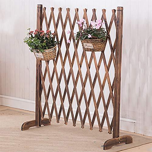 Erweiterender Holzzaun, freistehende Gitterplatten for draußen, als Weihnachtsbaumzaun/Tierzaun/Barriere-Tür verwendet (Size : H90CM)