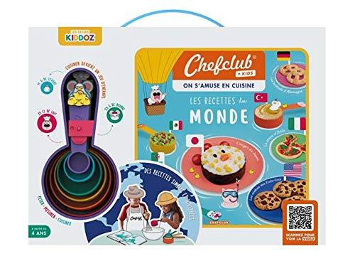 Chefclub - Coffret Chefclub Kids : livre de cuisine et doseurs enfants - Les Recettes du Monde