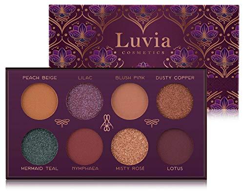 Luvia Lidschatten Palette Matt & Glitzer: Vegan Mystic Lagoon Eyeshadow, Nachhaltige Kosmetik Frei...