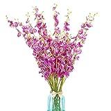 10 flores artificiales de orquídeas, flores artificiales de seda, arreglos florales para bodas, oficinas, fiestas, hoteles, centros de mesa