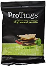 ProTings - Protein Chips, Chili Lime (1.0 oz), Single Serving Bags, 120 Cal by ProTings