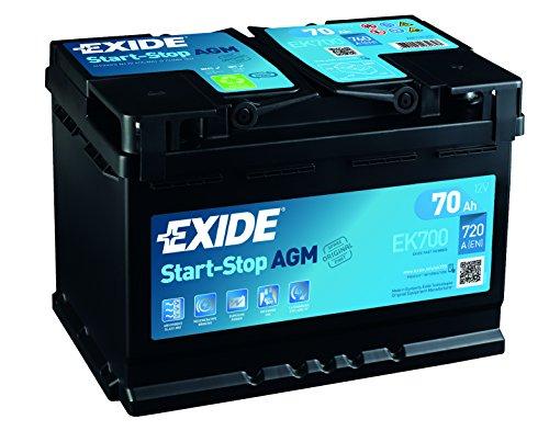 Exide 096AGM Autobatterie, 70Ah, AGM700EK700
