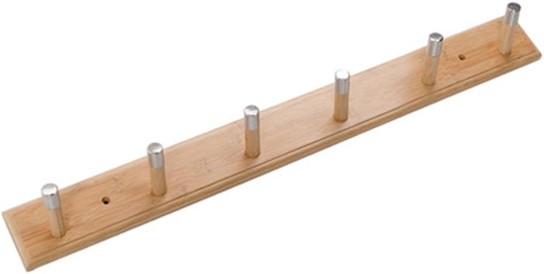 JIANFEI Wall Mounted Coat Rack Tilt Hook Up Stainless Steel Head Simple, Bamboo (Size   74  8 cm)