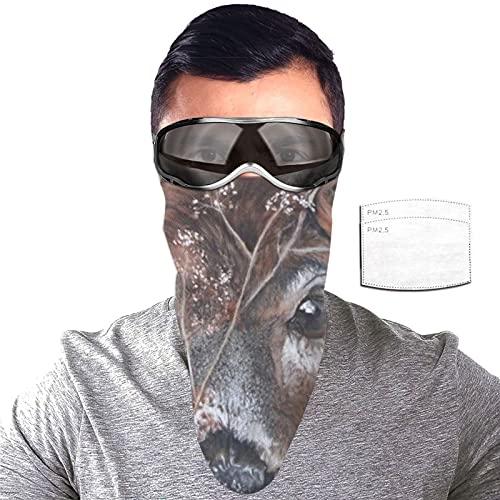 ZORIN Máscara de cola blanca con 2 filtros para el cuello