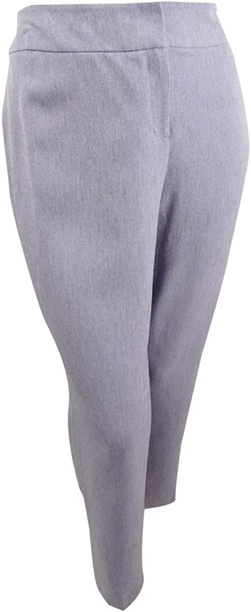 Kasper Womens Purple Straight Leg Wear to Work Pants Size 24W