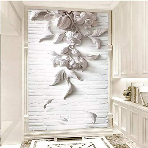 Pbbzl witte scheidingswand-achtergrond De veranda 3D en Gros aangepaste fotowand Het behang 120 x 100 cm.