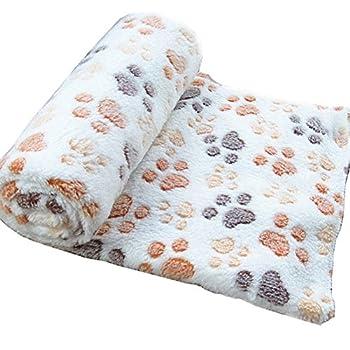 Wicemoon Coussin animal Couverture chaude, épaisse, douce et moelleuse pour animal domestique 100*80cm