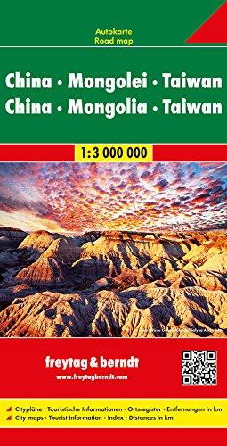 China - Mongolei - Taiwan, Autokarte 1:3.000.000: Auto + Straßenkarten (freytag & berndt Auto + Freizeitkarten)