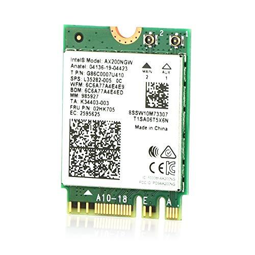 Ubit AX WiFi 6 Karte Dual Band 3000 Mbit/s AX200NGW für Laptop M.2 mit Bluetooth 5.1 | MU-MIMO | OFDMA | Ultra-niedrige Latenz (Supoort Win 10 64bit nur)