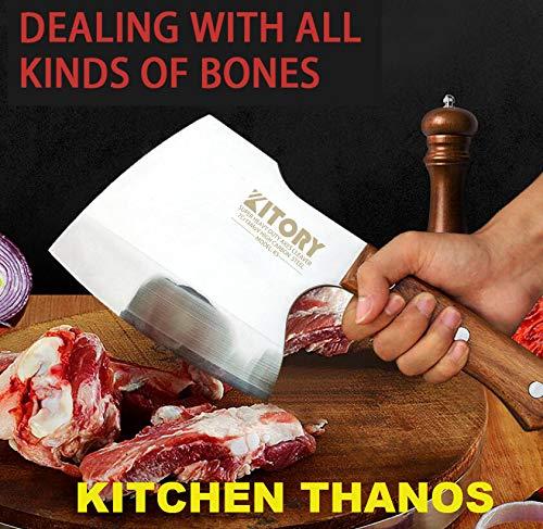 KITORY Meat Cleaver Heavy Duty Axes Butcher Knife Bone Breaker for...