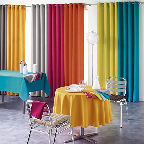 DOUCEUR D'INTERIEUR Tablecloth 140X200 Plain Polyester Essentiel Rouge, RED