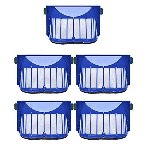 Lifeyz Kit de Accesorios de Filtro Hepa de 5 uds para IR-obot R-oomba 600 Series 605, 606, 616, 620, 650, 655, 660, 625, 676, 680, 690, aspiradora Ro-BOT Exquisito