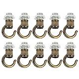Raguso 10 Pezzi in Lega di Zinco Apertura Lanterna lampadario Appeso Anello Gancio Luce Stringa Kit di Sospensione Leggera(Bronzo Verde)