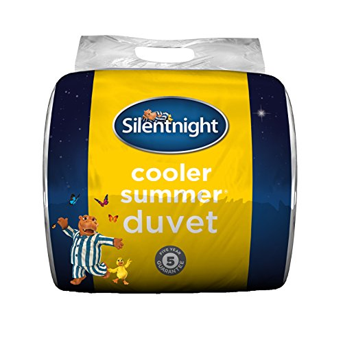 Silentnight Cooler Summer 4.5 Tog Duvet, Microfibre, White, King