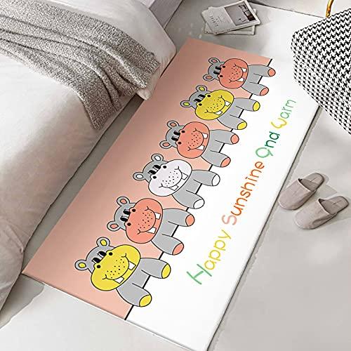 Gpink Lindo Conejito Gato Pequeño Animal Alfombra De Cabecera Alfombra De Dibujos Animados Alfombras De Piso Dormitorio Final De Cama Alfombra Completa Ventana De Bahía Fresca Alfombra De Tatami