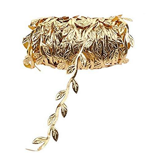 Xiton 10m Tuch Blätter Rattan Hochzeit Kranz Zubehör Goldene Blätter Seil für Hauptdekoration
