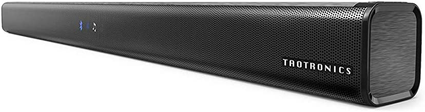 Best Soundbar, TaoTronics Three Equalizer Mode Audio Speaker for TV, 32-Inch Wired & Wireless Bluetooth 5.0 Stereo Soundbar, Optical/Aux/RCA Connection, Wall Mountable, Remote Control Reviews