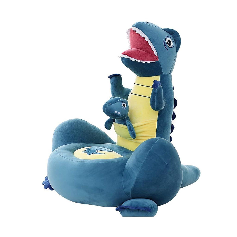 人形ぬいぐるみ恐竜人形小さなソファー席子供用枕畳クッション 枕?抱き枕 (Color : Blue, Size : 40*30*65cm)
