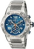 Invicta Men's Speedway Swiss-Quartz Watch with Stainless-Steel Strap, Silver, 30 (Model: 19527)