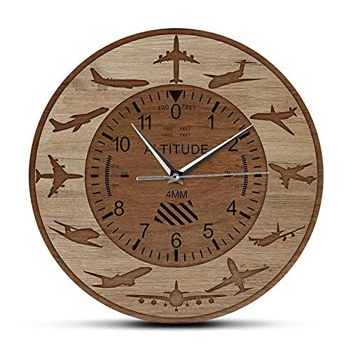 Reloj De Acrílico 30cm Aviones, medición de altitud, Reloj de Pared Impreso, señal de altímetro de avión, Reloj de Pared Decorativo, aviación, decoración del hogar, Regalo de piloto