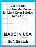Jet-Pro SofStretch Inkjet Heat Transfer Paper 8.5'x11' (25 sheets)