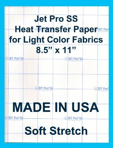 "Jet-Pro SofStretch Inkjet Heat Transfer Paper 8.5""x11"" (50sheets)"