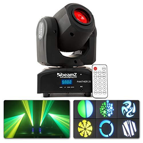 BeamZ Panther 25 LED - Disco Zubehör LED 1 Lampe 12W 8 Farben Sound aktiviert schwarz