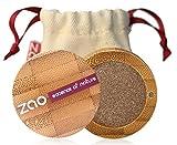 ZAO Pearly Eyeshadow 106 bronze braun Lidschatten schimmernd / Perlglanz in nachfüllbarer Bambus-Dose (bio, Ecocert, Cosmebio, Naturkosmetik)