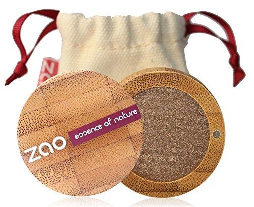 ZAO Pearly Eyeshadow 106 brons bruin oogschaduw glinsterend/parelglans in navulbare bamboedoos (bio, Ecocert, Cosmebio, natuurlijke cosmetica)