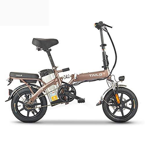 Pc-Hxl Bicicletas electricas Bicicleta eléctrica portátil de Aluminio Plegable Inteligente con 48V...