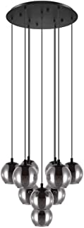 Pendellampa ARISCANI svart svart transparent Ø 65,5 cm H: 170 cm