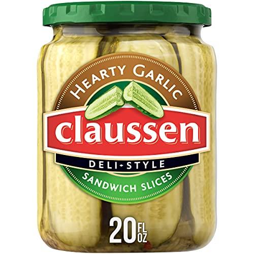 Claussen Deli-Style Hearty Garlic Sandwich Pickle Slices (20 oz Jar)