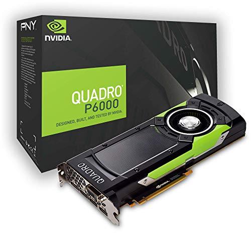 NVIDIA Quadro P6000 Quadro P6000 Grafikkarte (24 GB GDDR5, PCIe 3.0 x16, DVI, 4 x DisplayPort)