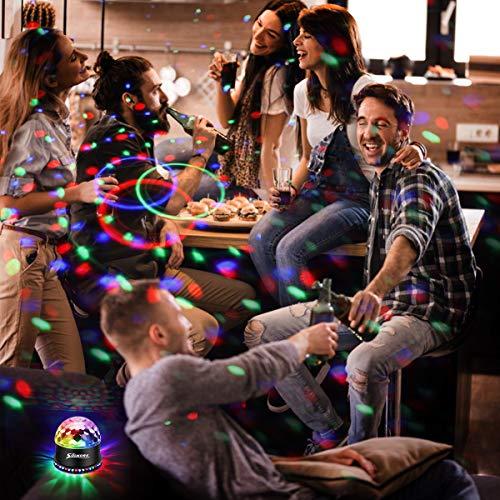 LED Discokugel,SOLMORE 51LEDs 12W Discolampe Partyleuchte RGB Lichteffekt Bühnenbeleuchtung Party Licht Weihnachten Deko - 5