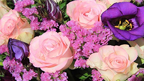 Diamond Painting Kits Pink Rose(100x200cm/40x80in) Round Drill DIY 5D Diamond Art Large Full Drill Crystal Rhinestone Diamond Embroidery Cross Stitch Craft for Home Wall Decor X7296