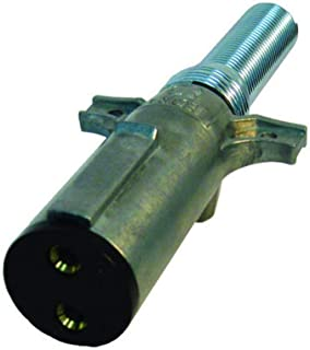 Tectran 670-27SG Vertical Dual Pole Plug (Socket Tarp Systems Connector, Vertical plug assembly with spring guard Crimp Te...