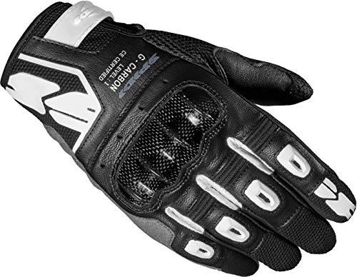 Spidi G-Carbon Damen Motorrad Handschuhe Schwarz/Weiß XS