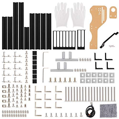 M-ATX ATX ITX DIYマザーボードシャーシ、ハンドル付きアルミニウム垂直オープンエアフレームシャーシ、優れた熱放散ラックPCケースおよびテストベンチ(ブラック)