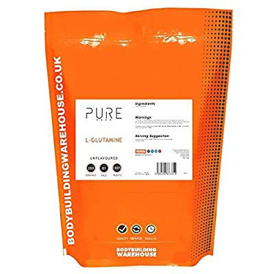 Bodybuilding Warehouse Pure L-Glutamine Powder 1kg - Supports Muscle Growth