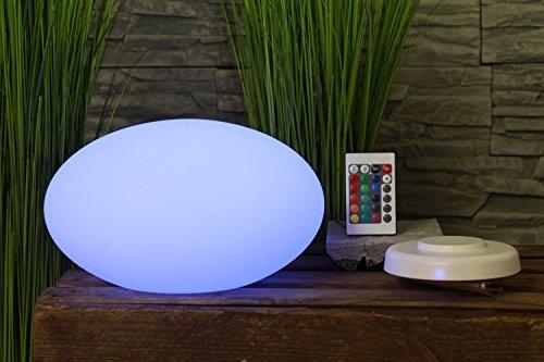 Arnusa Design Tischlampe LED inkl. Fernbedienung, Ladestation zum Kabellosen Aufladen + Akku Farbwechsel Moderne Leuchte 16 Farben