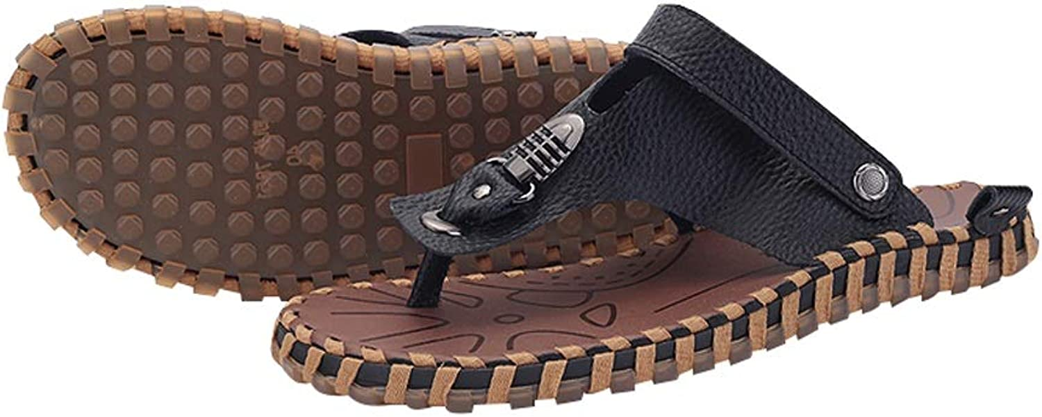 AUGAUST Men's Flip Flops Comfy Beach Pool Lightweight Summer Two Kinds Of Wearing Methods Are Non-slip Wearable (color   C, Size   40)